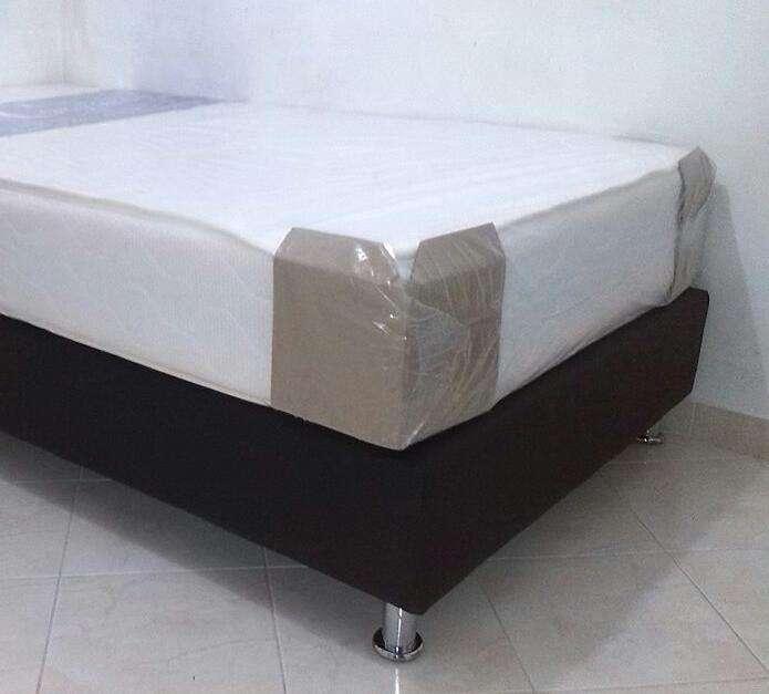 GRATIS envio base cama y colchón semi ortopédico + Regalo y lo puedes pagar en tu casa descuentos al por MAYOR 0