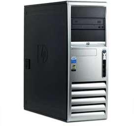 Computador hp Compaq Cores 2 dúo, 4gb ram, Windows 10 incluye teclado y mouse