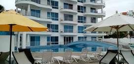 En Venta Departamento Amoblado 2 Dormitorios, Frente Al Mar, en Playa Tonsupa, Esmeraldas
