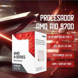Procesador AMD APU A10 X4 9700 (AM4)