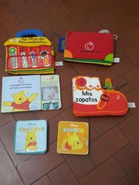 Lote libritos primera infancia de tela y goma eva