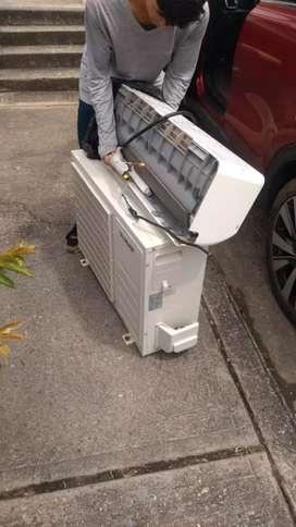 Venta de aires acondicionados, instalados, y todo servicio
