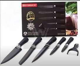 Set de cuchillos, filo láser en cerámica