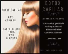 Alisado de botox capilar