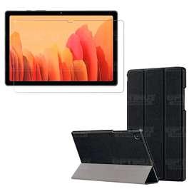 Kit Vidrio Templado Y Estuche Protector para Tablet Samsung Galaxy Tab A7 10.4 2020 T500 - T505