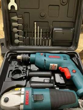 Taladro + amoladora (kit de herramientas)