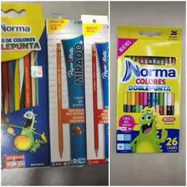 Colores y lápiz