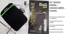 Kit Banco De Poder Manos Libres Bluetooth Funda Tablet 8 Pul