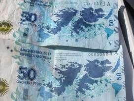 gp1160 Billete 50 Pesos Conmemorativo Islas Malvinas