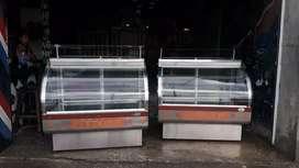 Vendo 2 vitrinas panaderas exhibidoras