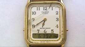 Reloj Casio Digi Ana Dorado Vintage Único