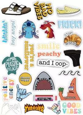 Plancha de stickers-pegatinas personalizados