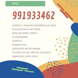 SPSS/ASESORIA ESTADISTICA/ASESORIA DE TESIS