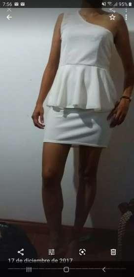 Vestido blanco hueso