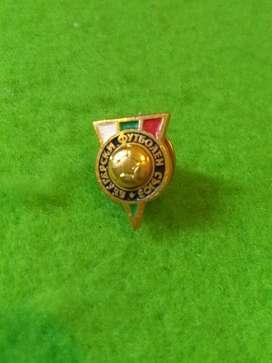 Antiguo Pin Selección Bulgaria 1970 Federacion Bulgara de futbol
