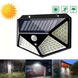 Panel solar 100 Led sensor al aire libre uso 3 modos
