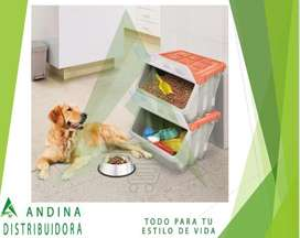 Perros Gatos Mascotas Caja Almacenadora De Comida