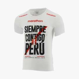 Polo Camiseta Marathon Contigo Perú Copa América 2019 Talla S talla M Talla XL