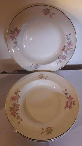 Platos de Porcelana Hondo X6