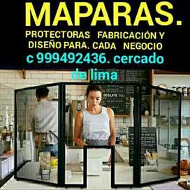 MANPARAS DE MADERA Y ACRILICOS