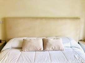 Respaldo de cama king. Lino natural. 2,00 x 1,30