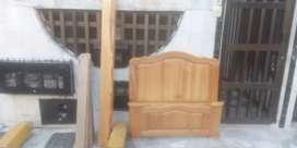 Cama de 1 metro  con tablas