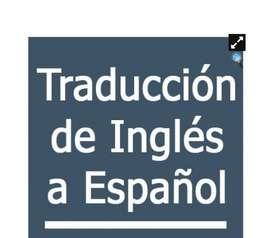 se hace traduccion de ingles