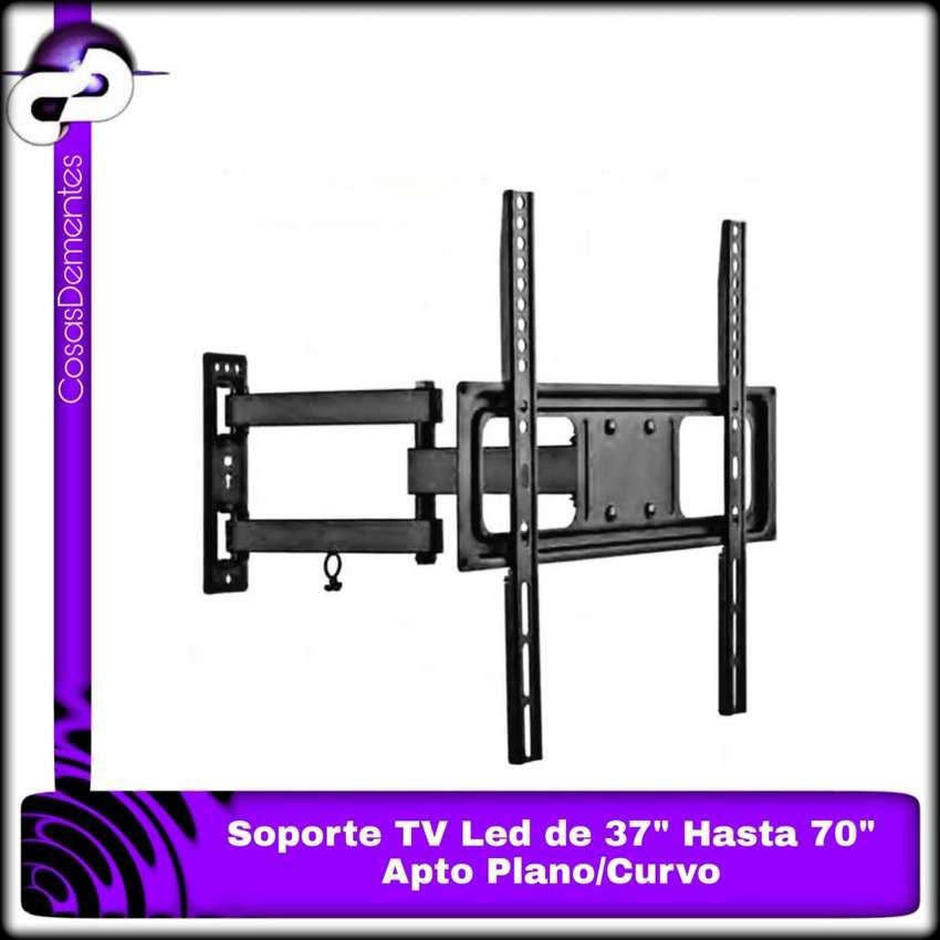 """SOPORTE TV/LED ARTICULADO MÓVIL DESDE 37"""" HASTA 70"""". APTO TV CURVO! 0"""