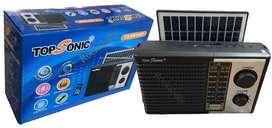 Radio Topsonic Am/fm Usb Bluetooth Panel Solar Recargable