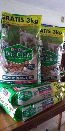 Dog Chow Adulto Raza Med Y Gra 22.7kg