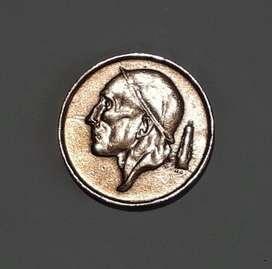 Moneda de Bélgica, 50 centimes, 1965, VF