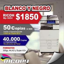 Copiadora Impresora Ricoh Mp5054 B/n Oferta NEGRO
