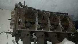 Tapa cilindro con válvulas y leva