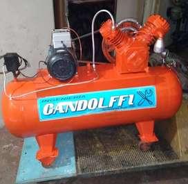"compresor ""Gandolfi"" Monofasico 2 HP."