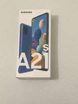 samsumg a21s azul de 128 gb nuevo en caja
