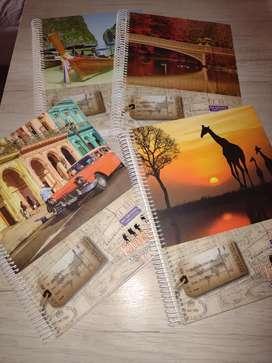 4 cuadernos de 150 hojas A4