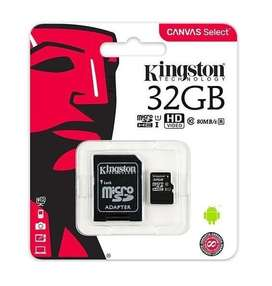 MEMORIA MICRO SD KINGSTON 32GB CLASE 10 EN BLISTER *LOCAL*