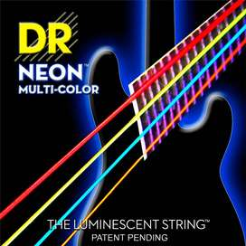 Encordado Dr NMCB45 Bajo Electrico Neon Multicolor 4C
