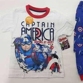 Pijama Capitan America Talla 6 Nueva