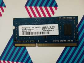 MEMORIA RAM KINGSTON DDR3 2G PORTATIL/LAPTOP