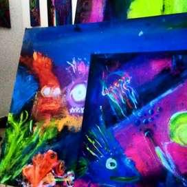 Lienzos en colores fluorescentes full colores