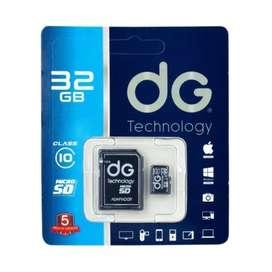 Memoria Micro Sd 32 Gb Clase 10 + Adaptador Sd Dg Original