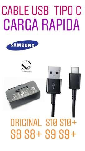 CABLE DE DATOS ORIGINAL TIPO C Samsung y carga power  S8 S8 PLUS S9 S9 PLUS S10  S10 PLUS S10E