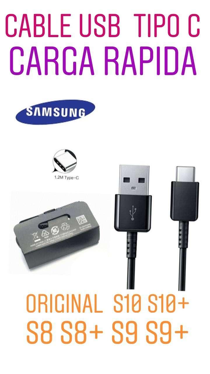 CABLE DE DATOS ORIGINAL TIPO C Samsung y carga power  S8 S8 PLUS S9 S9 PLUS S10  S10 PLUS S10E 0