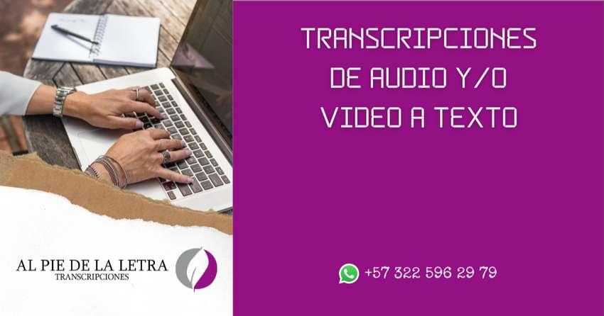 TRANSCRIPCIONES DE AUDIO A TEXTO - VIDEO A TEXTO - TEXTO A TEXTO