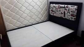 Base cama doble dividida + colchón + cabecero (excelente estado)