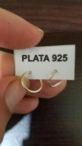 Aritos Redondos de Plata 925