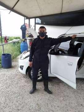 Lavado y desinfectado de automoviles la 64 con guavinal