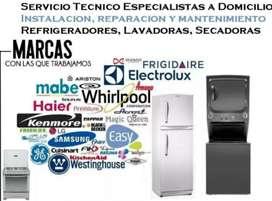 Servicio Técnico General Electric Lavadora Secadora Electrolux Frigidaire Whirlpool Refrigerador Indurama Coldex Mabe Tv