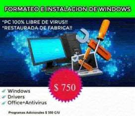 Formateo E Instalación Windows 7/10 Para Pc De Bajo Recurso